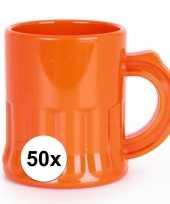 50x oranje shotglaasjes 2 5 cl trend