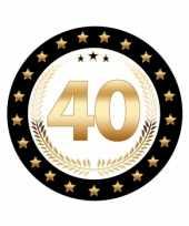 50x stuks luxe bierviltjes onderzetters 40 jaar thema trend