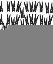 50x zwarte mini knijpertjes trend