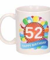52e verjaardag cadeau beker mok 300 ml trend