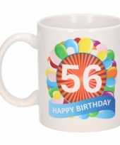 56e verjaardag cadeau beker mok 300 ml trend