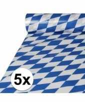 5x beierse tafelkleden van plastic op rol 20 x 1 meter trend