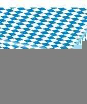 5x blauw met wit tafelkleden van 80x260 cm trend