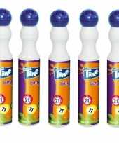 5x blauwe bingostift markers 43 ml trend
