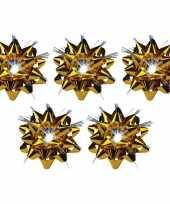 5x decoratie kadostrikken goud met lichtje trend