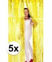 5x folie gordijn in het goud trend