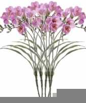 5x freesia empera kunstbloemen lila 63 cm trend