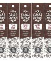 5x gaias incense luxe wierook stokjes cedarwood geur trend