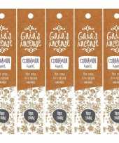 5x gaias incense luxe wierook stokjes kaneel geur trend