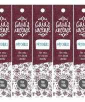 5x gaias incense luxe wierook stokjes patchouli geur trend