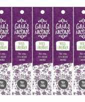 5x gaias incense luxe wierook stokjes wilde lavendel geur trend