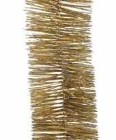 5x gouden glitter kerstslingers 270 cm kerstversieringen trend
