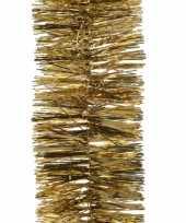 5x gouden kerstslingers 270 cm kerstboom versieringen trend