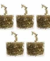 5x gouden sterren lametta guirlandes 700 cm trend