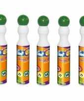 5x groene bingostiften markers 43 ml trend