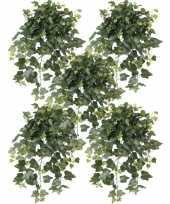 5x groene hedera helix klimop kunstplanten 65 cm voor buiten trend