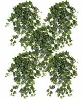 5x groene witte hedera helix klimop kunstplant 65 cm voor buiten trend