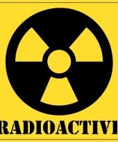 5x halloween decoratie radioactief radioactive sticker 10 5 cm trend