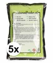 5x holi kleurpoeder groen trend