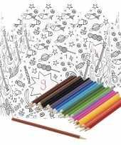 5x knutsel papieren kroontjes om in te kleuren incl potloden trend