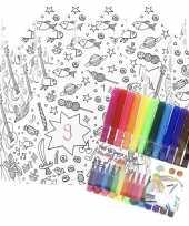 5x knutsel papieren kroontjes om in te kleuren incl stiften trend