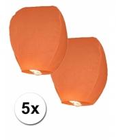5x oranje wensballon trend
