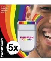 5x regenboog schmink stift trend