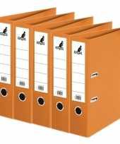 5x ringband mappen ordners oranje 75 mm a4 trend