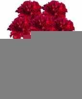 5x rode anjer kunstbloemen tak 65 cm trend