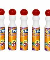 5x rode bingostift markers 43 ml trend