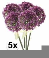 5x roze paarse sierui kunstbloemen 70 cm trend
