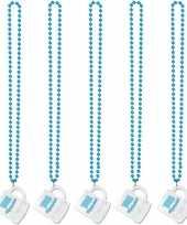 5x shotglazen kettingen oktoberfest verkleed accessoire trend