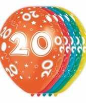 5x stuks 20 jaar thema versiering heliumballonnen 30 cm trend