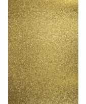5x vellen glitterend goud hobby karton a4 trend