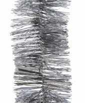 5x zilveren kerstslingers 7 x 270 cm kerstboom versieringen trend