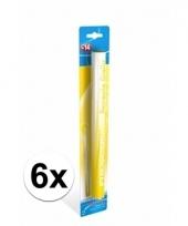 6 gele bengaalse fakkels 36 cm 60 sec trend