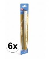 6 gouden bengaalse fakkels 36 cm 60 sec trend
