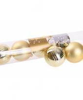 6 gouden kerstballen glanzend en mat trend