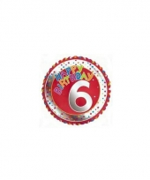 6 jaar helium ballon happy birthday trend