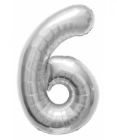 6 jaar helium ballon zilver trend