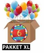 6 jarige feestversiering pakket xl trend