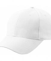 6 paneels baseball cap wit trend