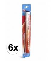 6 rode bengaalse fakkels 36 cm 60 sec trend