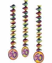60 jaar decoratie spiralen 3x trend