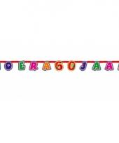 60 jaar gekleurde letterslinger trend
