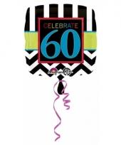 60 jaar geworden gevulde heliumballon trend