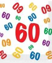 60 jaar servetten 16 stuks trend