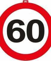 60 jaar verkeersbord deurbord 47 cm trend