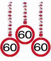 60 jaar versiering stopbord trend