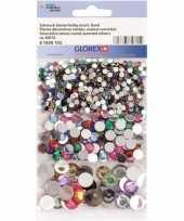 600x gekleurde ronde plak strass steentjes trend
